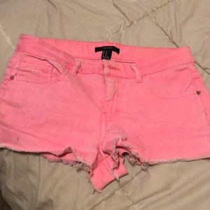 Hot pink shorts!